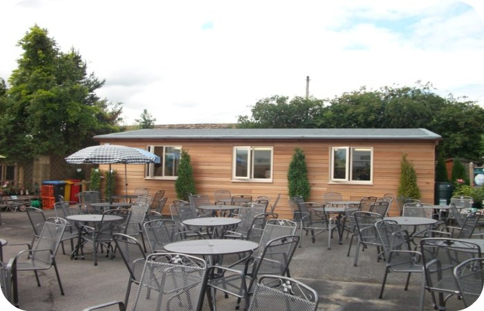 This timber frame project took just 10 days from order to completion, allowing the cafe to carry on functioning as usual.