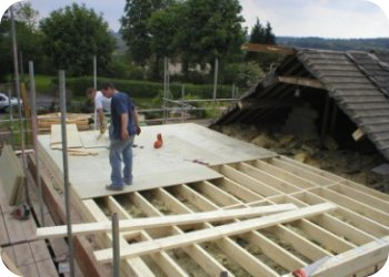 Sms Fit and deck the new floor structure ready to accept the timber frame structure.